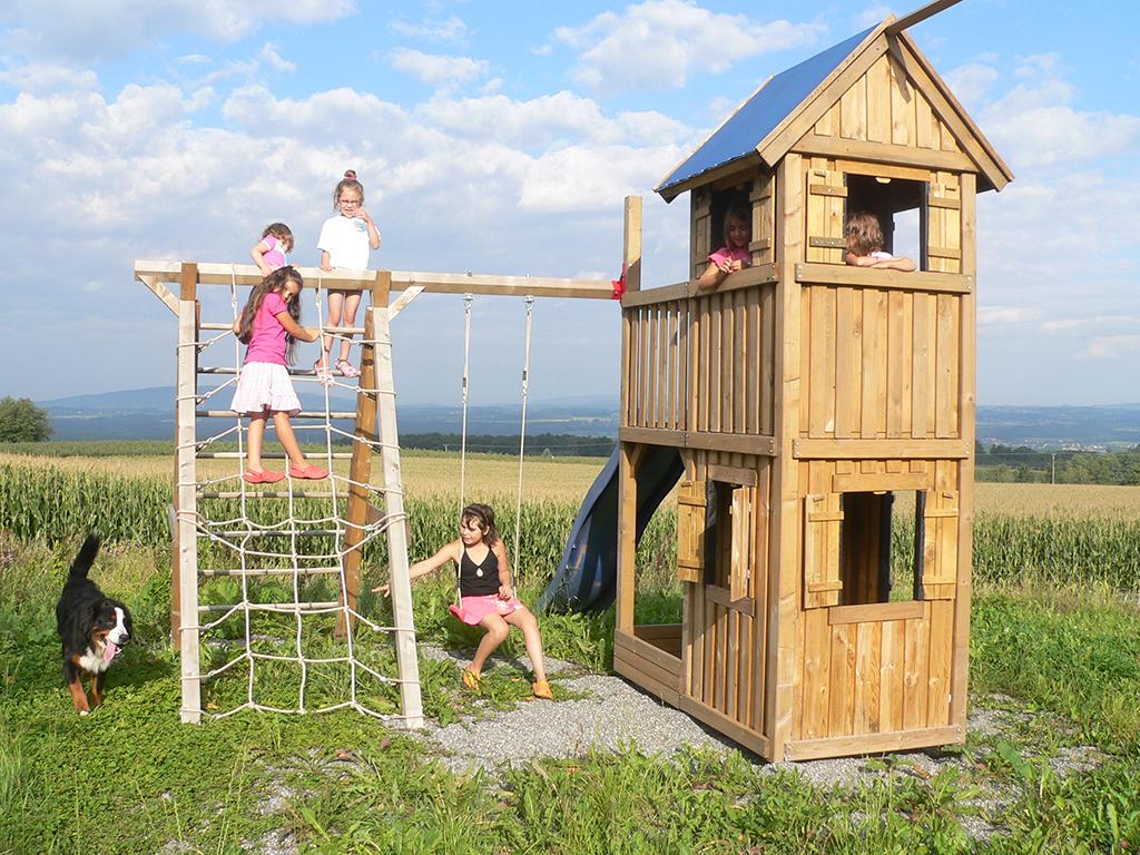 Der Spielplatz unseres Feriendomizils