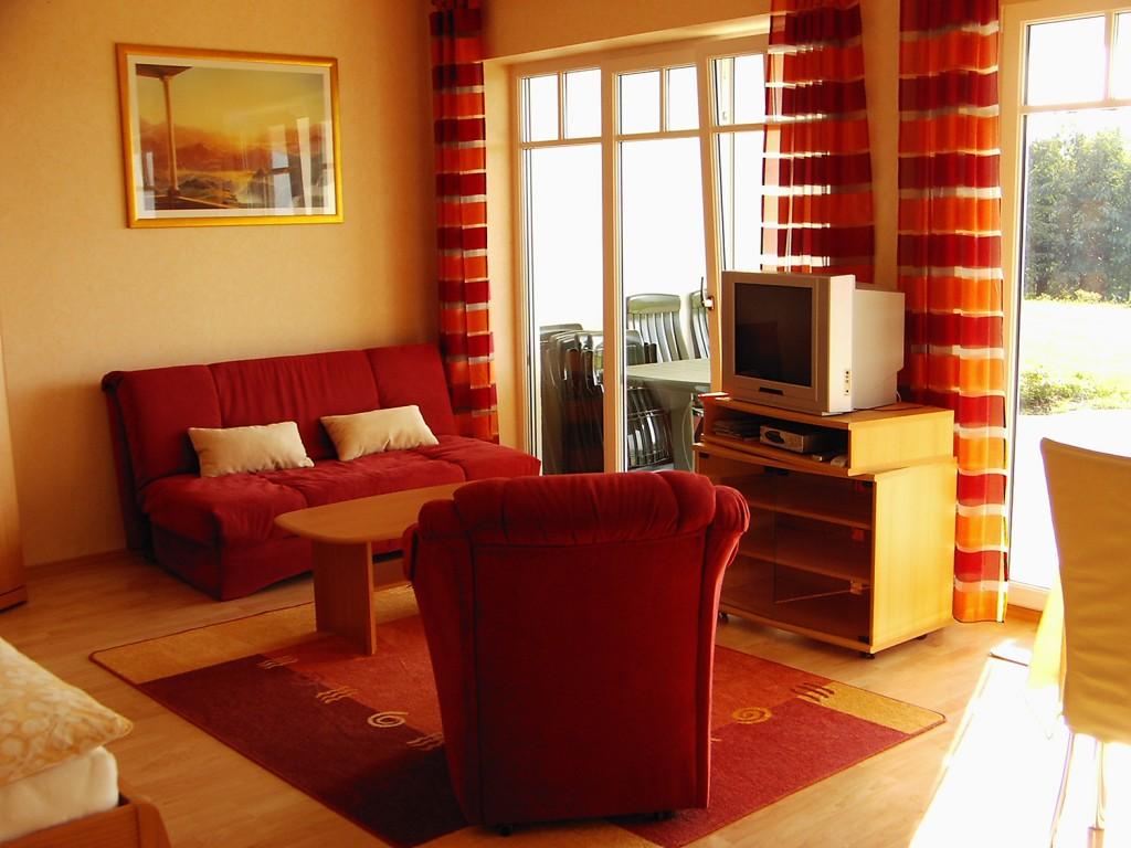 Wohnbereich der Ferienwohnung Typ II